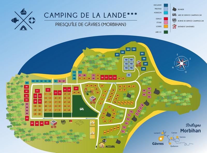 Gavres-Carto-Camping de la lande